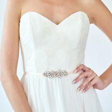 Small Gold Crystal Bridesmaid Sash Petite Bridal Belt  Wedding Bridesmaid Belt