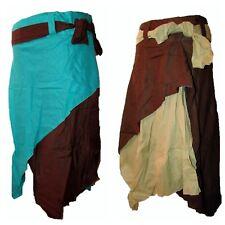 Falda de Algodón Hada/Gypsy Caravan Hippy Boho Pixie estilo Vintage Largo Pantorrilla Corbata