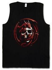 SKULL & DRAGON TANK TOP VEST - Dungeons Gothic Warrior Fantasy Rider Larp Shirt