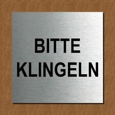 Schild Türschild Edelstahl Design Piktogramm - Bitte klingeln