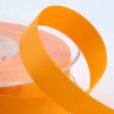 Oro Amarillo doble cara cinta de raso-Craft-costura 25m 50m