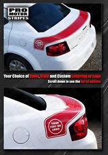 Dodge Avenger 2008-2014 Bumblebee Trunk Rear Stripes Decals (Choose Color)
