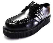 TUK Black Leather Unisex Rockabilly Creepers …