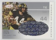 2003 SAGE Autographs Silver #A10 Dallas Clark Iowa Hawkeyes Auto Football Card