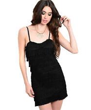 On Trend For Less Womens Sweetheart Neckline Tassled Bodycon Dress