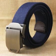 Mens Quality Canvas Belt - Blue - NOS Nitrous Oxide - 5 Sizes - BE0017