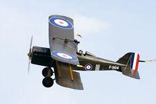 1/6 Scale British WW-I RAF SE-5a Biplane Plans, Templates, Instructions