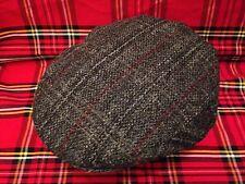 Gris Mancha Roja Harris Tweed Gorro Gorra Plana Conducción SCOTS bunnit Sombrero De Escocia