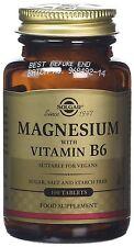 Un Solgar Magnesio con la vitamina B-6 comprimidos 100 comprimidos