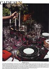 PUBLICITE ADVERTISING  2011   RALPH LAUREN   l'art de la table