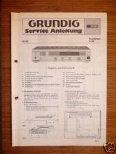 Service MANUAL Grundig V 30 amplifier, ORIGINALE