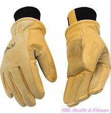 KINCO 901 Mens Lined Winter Premium Grain & Suede Pigskin Heetkeep Ski Gloves