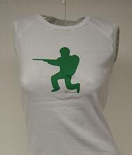 NEW Girls Juniors DAVID & GOLIATH One Man Army White Tank Top T-Shirt