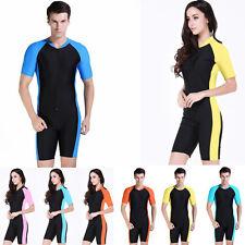 Couples UV Sunscreen RashGuard Surfing Diving Skin Short Sleeve Shorty Swimwear