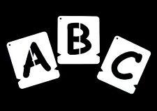 ALPHABET STENCILS, LETTER STENCIL A-Z & 0-9- COMIC SANS * Incl. free &*