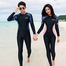 Men Women One Piece Swimsuit Full Body Dive Skin UPF50+ Rash Guard Long Swimwear
