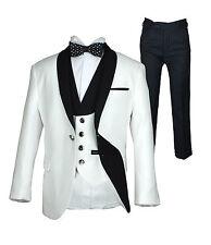 Boys Suits 5 PC Exclusive White & Black Elegant Single Button Luxury Boys Suit