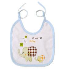 Kids Cotton Bibs Elephant Waterproof Baby Boys Girls Saliva Bibs 3 Colors*-*