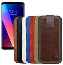 Exclusive Lederhülle Tasche Handytasche Cover Etui inkl Silicon Case für LG V30