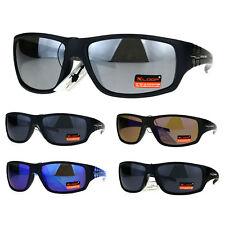 Xloop Sport Warp Plastic Mens Rectangular Oversize Sunglasses