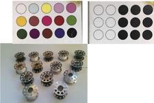 15 Sewing Machine Spools Bobbins Threaded Black and White Thread Cotton 20mm