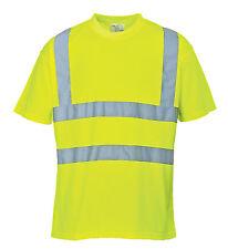 Warnschutz T-Shirt gelb S - XXXL Warn Polo Shirt Warnshirt Hemd warngelb