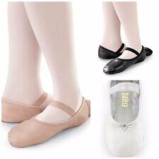 NEW Capezio Balera Pink Black White Full Sole Leather Ballet Shoes Child Sizes