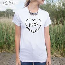 Kpop T-Shirt Boy Band Korean Music Teen Girl K-Pop Fashion Top Fangirl Top