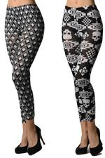 2 Pack Black and White Print Women's Leggings