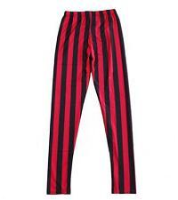 Women Red black stripe Leggings MIlk Legging Galaxy legging Plus Size 574