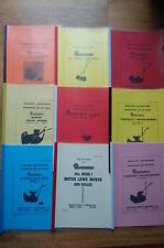 Ransomes Lawn Mower Manuals Ajax Marquis Mastiff Mercury Ripper Auto-Certes