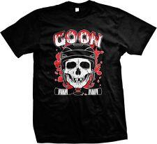 Goon - Hockey Skull Cross Bones Puck Blood Hockey Sticks Funny -Men's T-shirt