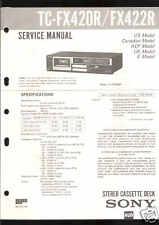 Sony Original Service Manual per tc-fx420 R TC FX 422