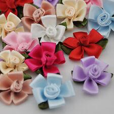 40pcs Satin Ribbon Flowers Appliques sewing/craft/wedding Craft Wedding A149