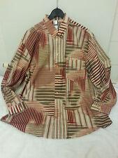 Gemustertes Herrenhemd  Gr. 43/44   XL  neu Baumwolle/Polyester langer Arm  5456