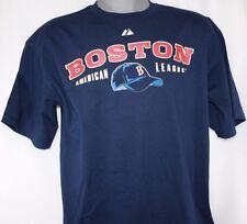 NEW Mens MAJESTIC Boston RED SOX AL Legacy Hat / Caps Logos Baseball T-Shirt