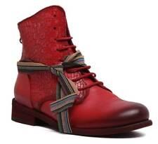 Felmini 8497 Womens Red Leather Matt Ankle Boots UK Size 3 - 8