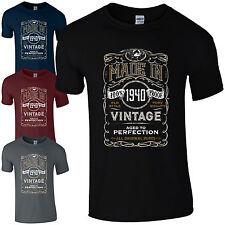MADE in 1940 T-Shirt Born 78th ANNO COMPLEANNO età attuale vintage divertente Uomo Regalo