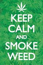 91453 KEEP CALM AND SMOKE WEED MOTIVATIONAL Decor WALL PRINT POSTER FR