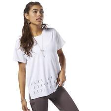 Reebok Wmns Studio Activchill Tee New White Grey Women Sportswear CZ9454
