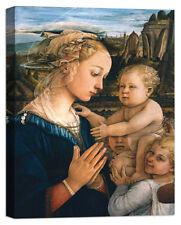 Stampa su Tela Vernice Effetto Pennellate LIPPI Madonna col Bambino e angeli
