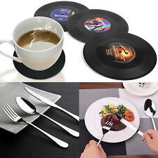 4 Vinyl Coaster Record CD Vintage Groovy Tableware Drink Decoration Retro Music