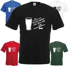 En chien bières j'ai un seul t shirt tee cadeau de noël top slogan pub boisson fête