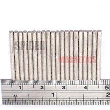 Imán pequeño 500/1000 2x0.5 mm N52 Imán De Neodimio pequeñas embarcaciones 2mm diámetro x 0.5mm