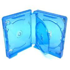 Blu RAY 3 VIE 25mm caso spina dorsale per contenere 3 dischi di ricambio nuovo rivestimento AMARAY