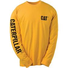 Caterpillar Mens Trademark Logo Cotton T Shirt Yellow