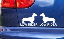 Low Rider Dachshund Funny Car Window Bumper Stickers Decal JDM VW DUB Scene EURO