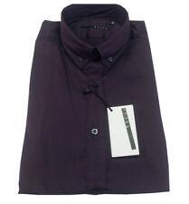 XACUS camicia uomo viola vestibilità slim 78% cotone 16% poliammide 6 % elastan