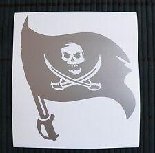 adesivo BANDIERA PIRATI scheletro sticker decal vynil vinile skull pirates flag