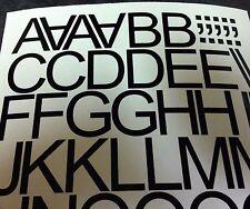 """1"""", 1 1/2"""", 2"""", 3"""", 4"""", 5"""" LETTERE NUMERI Vinile Autoadesivo Adesivi Lettering"""